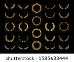 set of thirty different golden... | Shutterstock .eps vector #1585633444