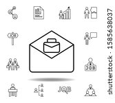 email  job icon. set of hr...