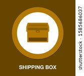 shipping box icon  vector... | Shutterstock .eps vector #1585686037