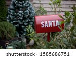 Christmas  Red Mailbox With...