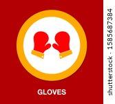 vector gloves illustration ... | Shutterstock .eps vector #1585687384