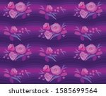 seamless pattern with blooming...   Shutterstock .eps vector #1585699564