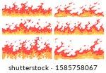 cartoon fire border. flame... | Shutterstock .eps vector #1585758067
