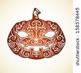 vector happy halloween template ...   Shutterstock .eps vector #158578445