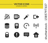 user icons set with router  log ...