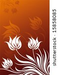 abstract vector floral... | Shutterstock .eps vector #15858085