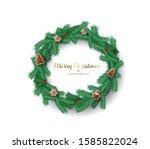 christmas vector background... | Shutterstock .eps vector #1585822024