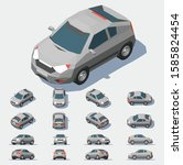 car vector template on grey... | Shutterstock .eps vector #1585824454