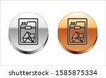 black line 3d printer icon... | Shutterstock .eps vector #1585875334