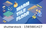 worker  construction tools and... | Shutterstock .eps vector #1585881427