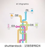 minimalistic style infographic... | Shutterstock .eps vector #158589824