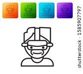 black line virtual reality... | Shutterstock .eps vector #1585907797