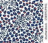 seamless leopard skin pattern.... | Shutterstock .eps vector #1585919941