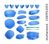 set of shining classic blue...   Shutterstock . vector #1585921051