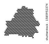 belarus map from 3d black cubes ... | Shutterstock .eps vector #1585952374