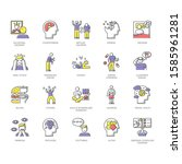 Mental Disorder Color Icons Se...