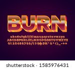 hot red and orange retro font... | Shutterstock .eps vector #1585976431