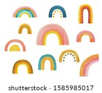 watercolor set  collection of...   Shutterstock . vector #1585985017