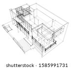 house building architecture... | Shutterstock .eps vector #1585991731
