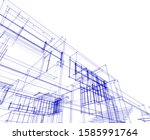 house building architecture... | Shutterstock .eps vector #1585991764