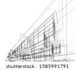 house building architecture... | Shutterstock .eps vector #1585991791