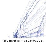 house building architecture... | Shutterstock .eps vector #1585991821