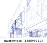 house building architecture... | Shutterstock .eps vector #1585991824