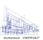 house building architecture... | Shutterstock .eps vector #1585991827