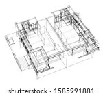 house building architecture... | Shutterstock .eps vector #1585991881