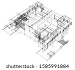 house building architecture... | Shutterstock .eps vector #1585991884