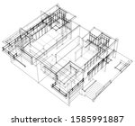 house building architecture... | Shutterstock .eps vector #1585991887