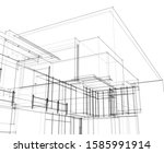 house building architecture... | Shutterstock .eps vector #1585991914