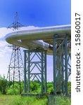 industrial pipelines against... | Shutterstock . vector #15860017