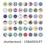 set of vector icons. flags of... | Shutterstock .eps vector #1586003197