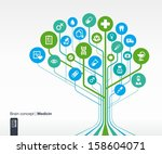 abstract medicine background.... | Shutterstock .eps vector #158604071