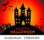 happy halloween | Shutterstock . vector #158604365