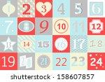 advent calendar    Shutterstock .eps vector #158607857