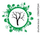 green eco earth  isolated on... | Shutterstock .eps vector #158609264