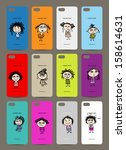 mobile phone cover back   12... | Shutterstock .eps vector #158614631