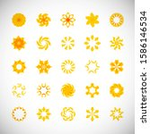 abstract circle icon set....   Shutterstock .eps vector #1586146534