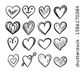 set of hand drawn illustrations ... | Shutterstock .eps vector #1586170384