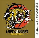 Lady Cougars Basketball Mascot...