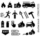 axe,black,burning,car,car fire,collection,danger,electrical fire,emergency,equipment,fire,fire alarm,fire axe,fire engine,fire exit