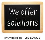 we offer solutions | Shutterstock . vector #158620331