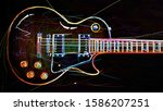 Electric Guitar . Abstract Neon ...