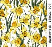 flower seamless pattern. ...   Shutterstock .eps vector #1586214904