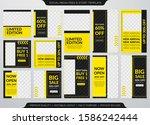 set of social media promotion... | Shutterstock .eps vector #1586242444