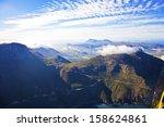 aerial view of chapman's peak... | Shutterstock . vector #158624861