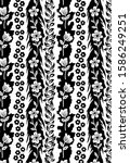 black and white pattern textile ... | Shutterstock . vector #1586249251