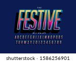 vector of stylized modern font... | Shutterstock .eps vector #1586256901